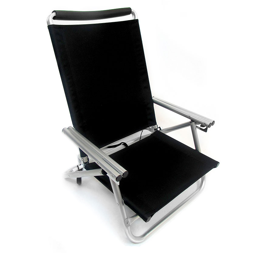 Imprinted Low Boy 3 Position Reclining Aluminum Beach Chair