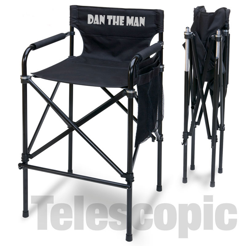 Exceptionnel Imprinted Quad Style Tall Aluminum Directors Chair