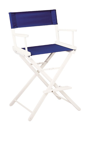 Contemporary Model Counter Height White Finish Directors Chair