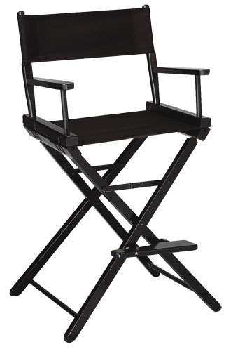 Contemporary Model Counter Height Black Finish Directors Chair
