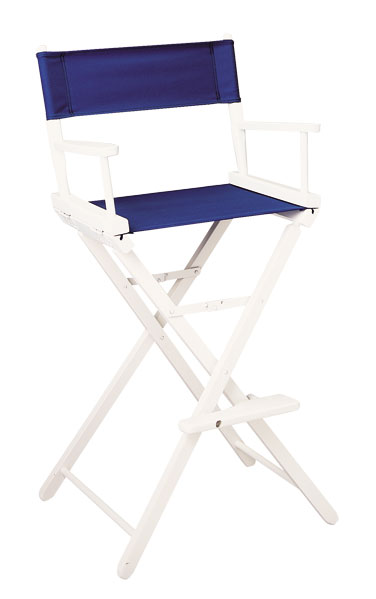 Contemporary Model Bar Height White Finish Directors Chair