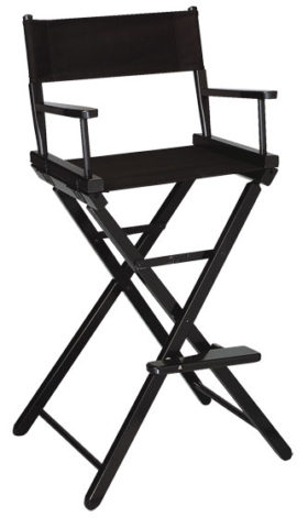 Contemporary Model Bar Height Black Finish Directors Chair