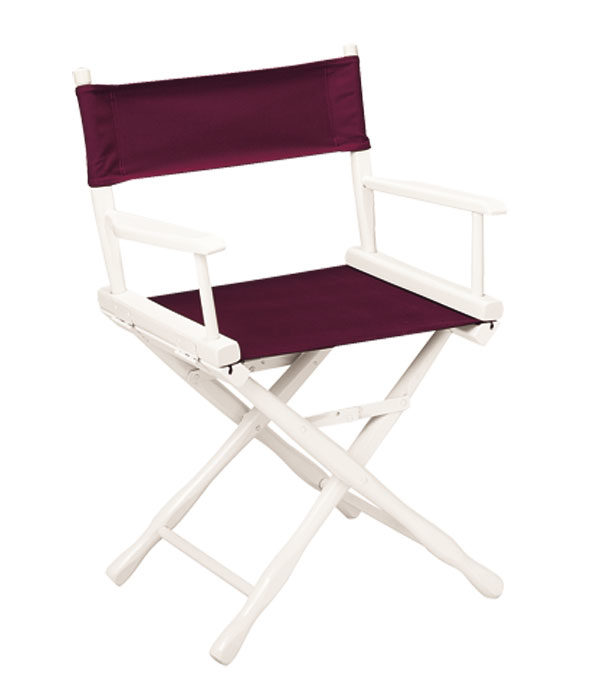 Classic Model Table Height White Finish Directors Chair