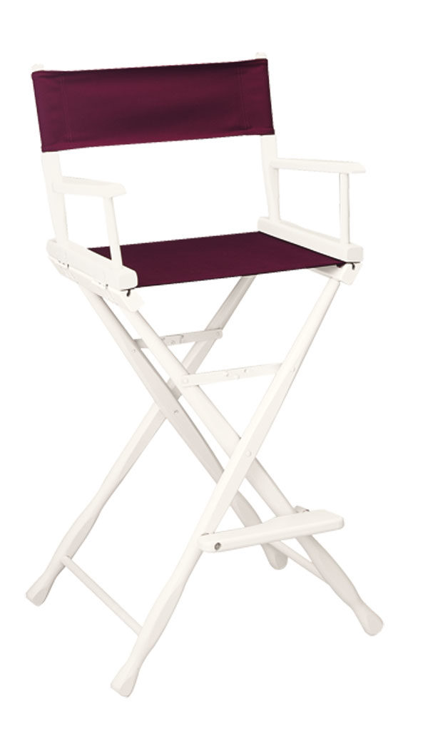 Classic Model Bar Height White Finish Directors Chair