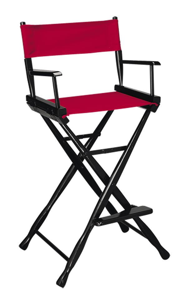Classic Model Bar Height Black Finish Directors Chair