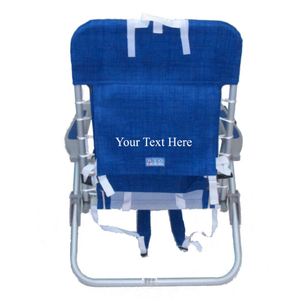 d4092e999a IMPRINTED 4 Position Deluxe Lace-up Aluminum Backpack Chair by RIO Beach    Custom Chair Designer   Everywherechair