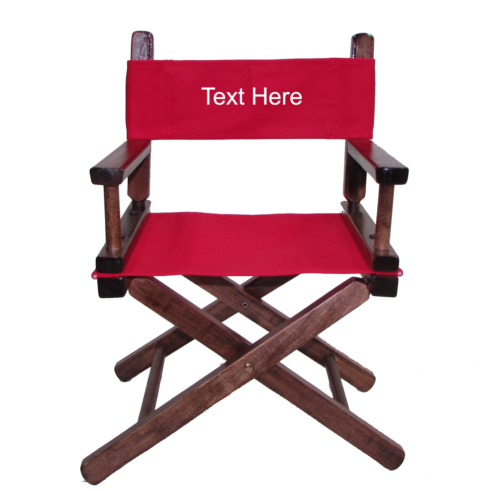 Embroidered Walnut Frame Toddler S Directors Chair